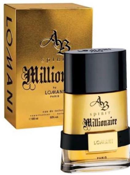 Perfume Lomani Spirit Millionaire 100ml Eau De Toilette 7430