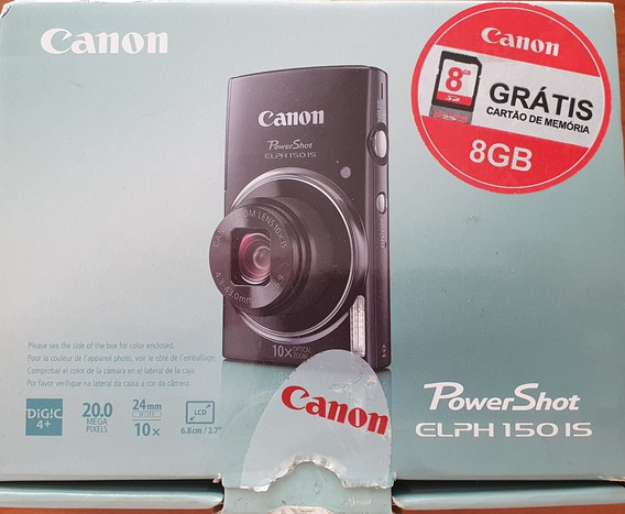Canon Power Shot Elph 150 Is Vermelha