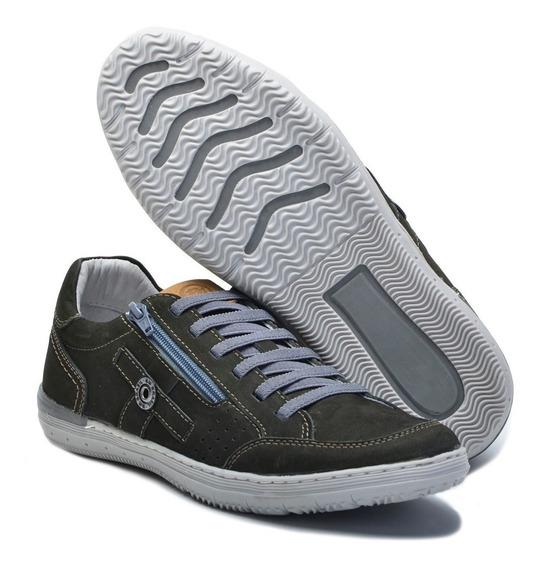 Sapato Couro Ortopedico Ziper Bm Brasil