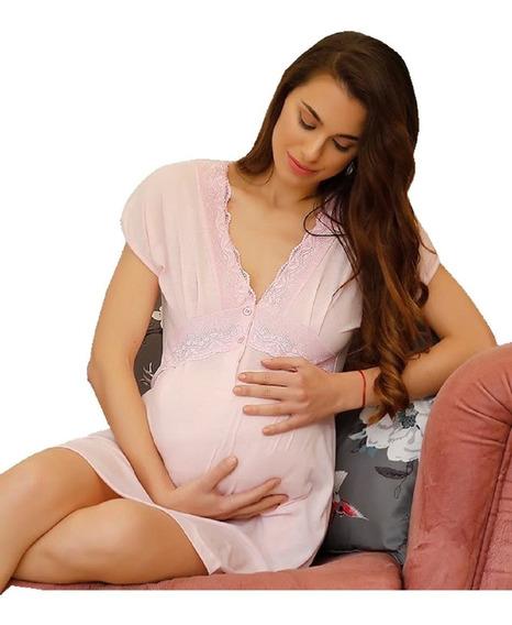 Camisón Maternal Amamantar Futura Mama Lactancia Dar El Pech
