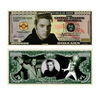 Billete Conmemorativo Elvis Presley, 1 Millón De Dolares.