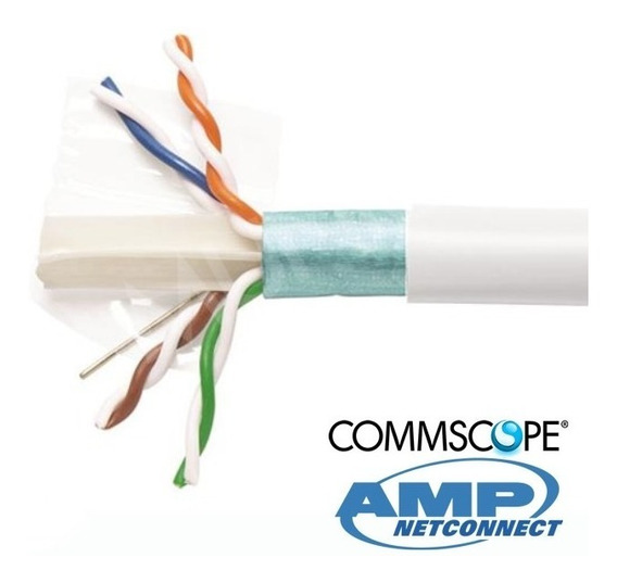 Cable Ftp Categoria 6a Lszh Bobina 305mts Commscope Amp