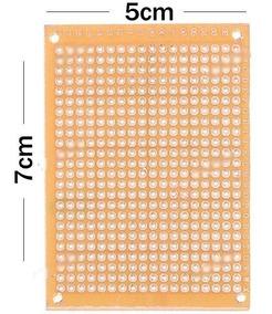 Kit 10 Placas Prototipo De Fenolite 5x7cm Perfurada - M.e