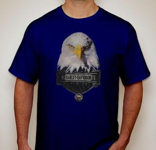 Camisa Camiseta Customizada Harley Davidson_eagle Leader