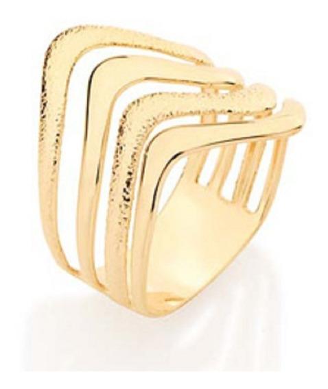 Anel Folheado A Ouro Rommanel Ondulado E Granitado 510831
