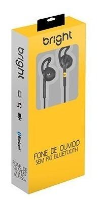 Fone De Ouvido Bluetooth Bright 0481 Original C/ Controle Nf
