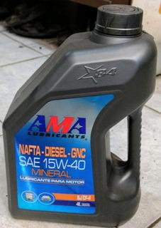 Aceite Motor 15w40 Ama 4 Litros