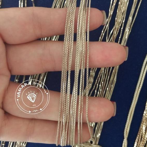Corrente Veneziana Fina Prata 925 Clara 40cm