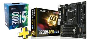 Kit Intel Core I5 7400 + Placa Mãe Gigabyte B250m-d3h