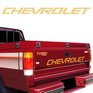 Adesivo Chevrolet Faixa Traseira D20 Dourado Modelo Original