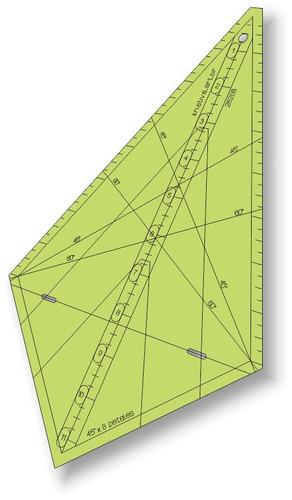 Imagem 1 de 2 de Gabarito Triângulo 45 Graus X 11  Pol X 8 Pétalas - 26208
