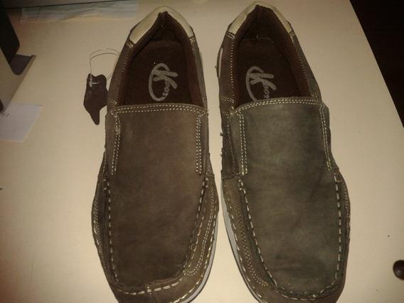 Zapatos Casuales Para Caballero Talla 38 Marron Pura Piel