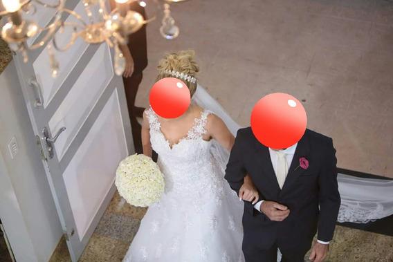 Vestido De Noiva Com Renda E Cristais Swarovsk