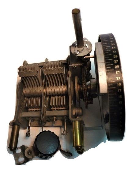 Capacitor Variable Doble 2 X 100 Pf Con Vernier (dial) O 200