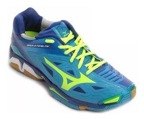 Tênis Mizuno Wave Stealth 3 Azul/amarelo Tamanhos Grandes+nf