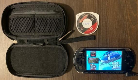Psp 3001 + Jogo Original + Desbloqueado- Sem Bateria + Sd8gb