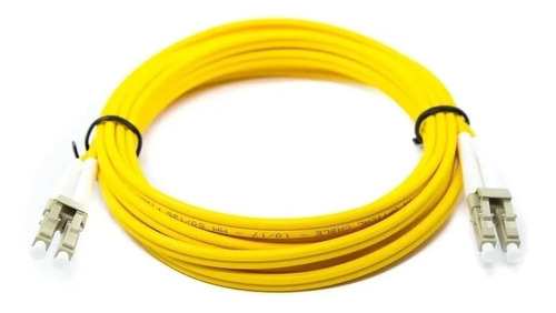 Cordão Óptico Duplex Multimodo Lc/lc 50/125 Amarelo 2 Metros