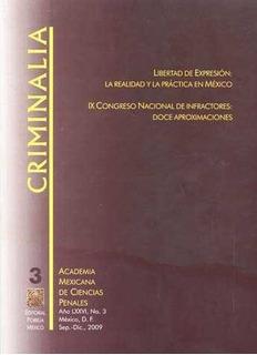 Revista Criminalia Año 76 Número 3 Septiembre-diciembre 2009