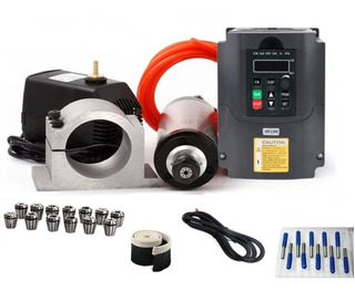 Kit Spindle 2.2kw 24000rpm Router Cnc 110v Facturado