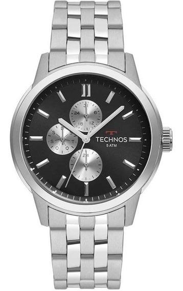 Relógio Technos Masculino Ref: 6p27ds/1c Grandtech Prata