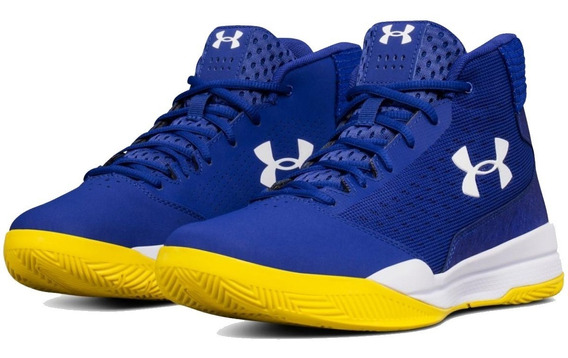 Tênis Under Armour Jet Mid Gsw Warriors Basketball
