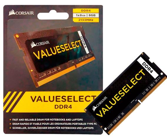 Memória 8gb Ddr4 2133mhz P/ Notebook Corsair Value Asus Dell