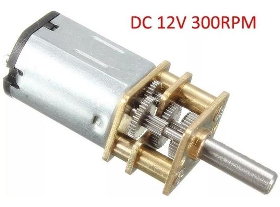 Motor Dc 12v 300rpm Com Caixa De Redução - Pronta Entrega