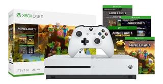 Consola Xbox One S 1 Tb Minecraft Bundle Juegos Paquete Msi