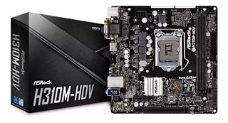 Asrock H310m-hdv Intel 8va Gen Ddr4 Hdmi Dvi Vga 4k H310