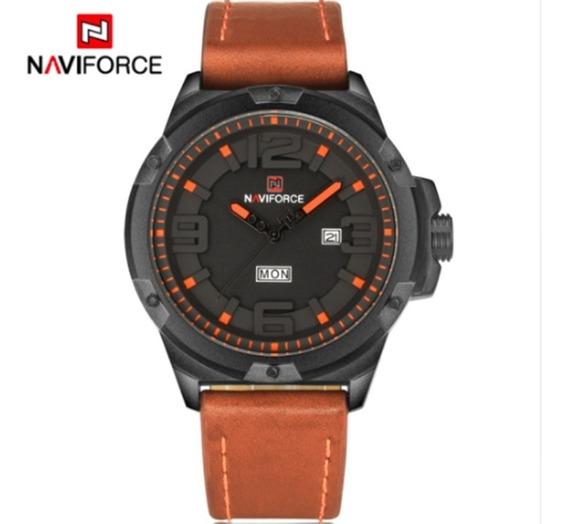 Relógio Masculino Naviforce 9100 De Pulso Original Barato