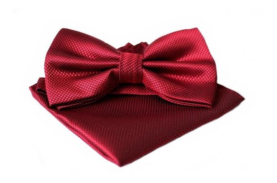 Set Humita (corbatin) + Pañuelo Color Rojo