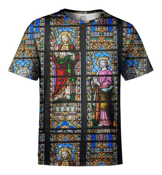 Camiseta Masculina Vitral Igreja Digital