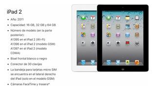 iPad 2 64g Wifi + Celular Impecable A1396