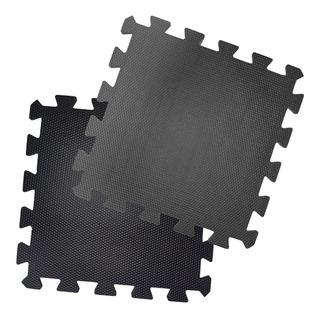 Pisos Goma Eva Gimnasios 100x100 Cm X 10 Mm Color Negro
