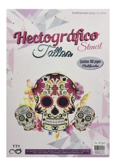 Papel Hectográfico Decalque Tattoo Tatuagem Tts C/100 Folhas