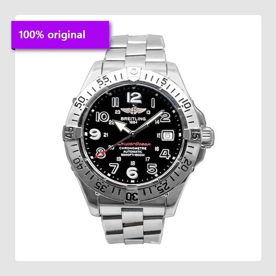Relógio Masculino Breitling, Superocean, Aço, Frete Grátis