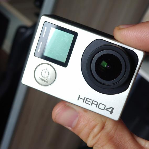 Gopro Hero 4 Silver Com Controle Remoto Wifi E Acessórios