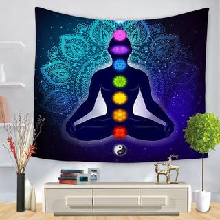 Diseño Textil/buda Chakras Ying Y/yoga/cubrecama/decoración