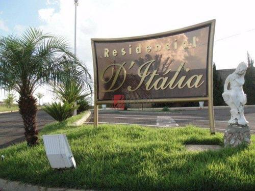 Imagem 1 de 6 de Terreno À Venda, 450 M² Por R$ 110.000,00 - Residencial Ditalia - Bady Bassitt/sp - Te0916