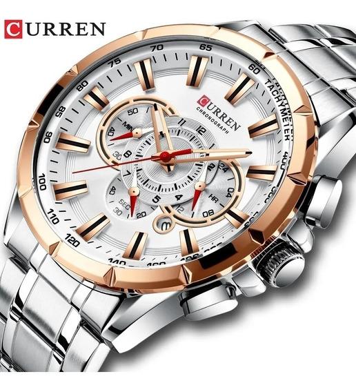 Relógio Masculino Curren 8363 Top Original Lançamento