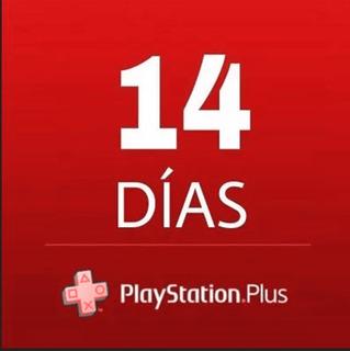 Playstation Plus 14 Días 3 X 1 Psn Ps4 + Juegos Gratis