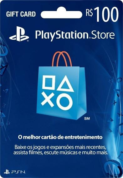 Card R$100 Psn Playstation Network