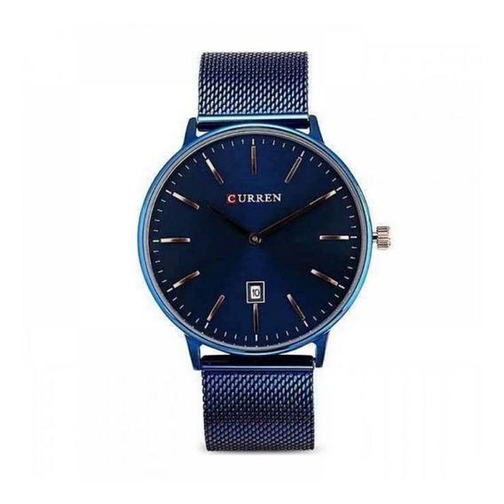 Relógio Masculino Curren Analógico 8302 - Azul