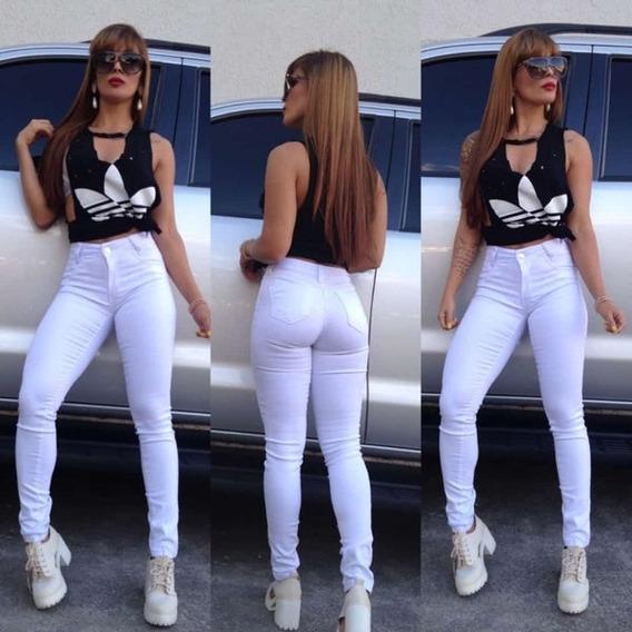 Calça Jeans Feminina Skini Super Stretch - Branca