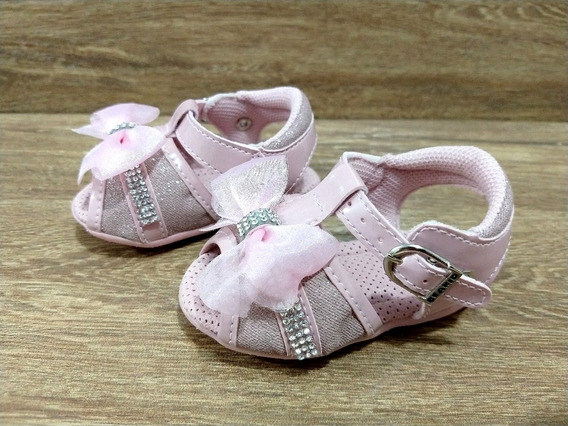 Sandalia Bebe Infantil Feminina Menina Rosa Beakid Original