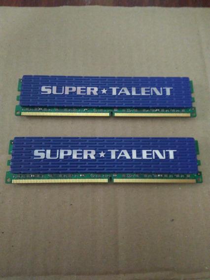 Lote De 2 Memorias Ddr2 X 1 Gb C/u Super Talent