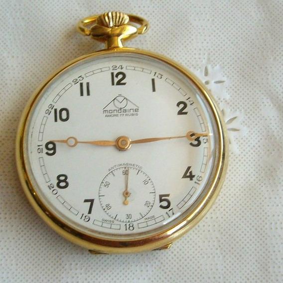 Relógio De Bolso Mondaine 17 Rubis.