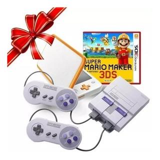 Consola Snes Classic Edition + Nintendo 2ds Xl+ Mario Maker3