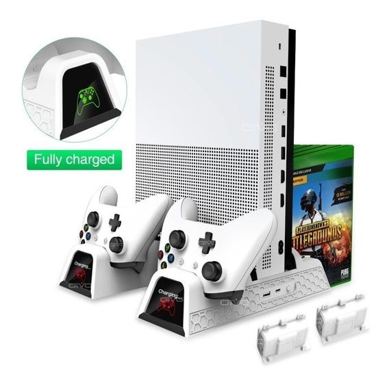 Suporte Base Vertical Xbox One /one S X Com Cooler 2 Bateria