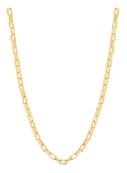 Cordão Cadeado Rommanel Folheado Ouro Lindo 50cm 530715